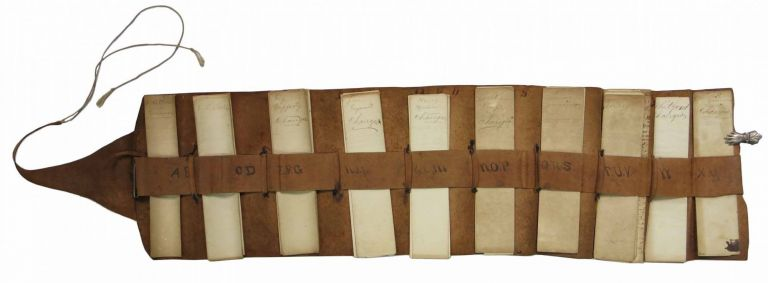 Leather Receipt Portfolio (manuscript on paper). Truesdale Dry Goods, Morris Truesdale.