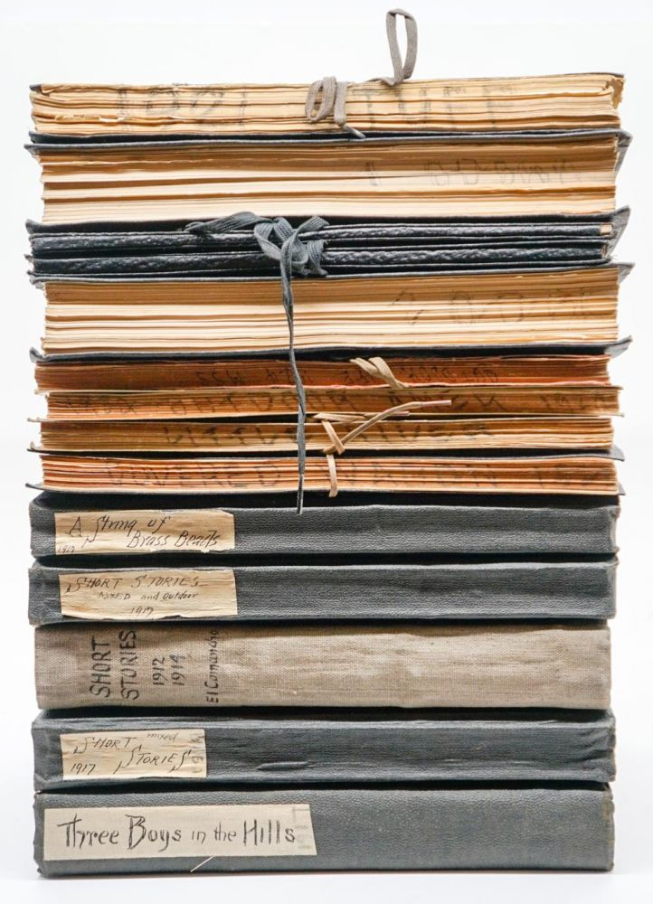 """[ARCHIVE OF LITERARY MANUSCRIPTS]. """"El Comancho"""" (together 14 vols. containing more than 3,000 leaves). Walter Shelley Phillips, a k. a. """"El Comancho"""""""