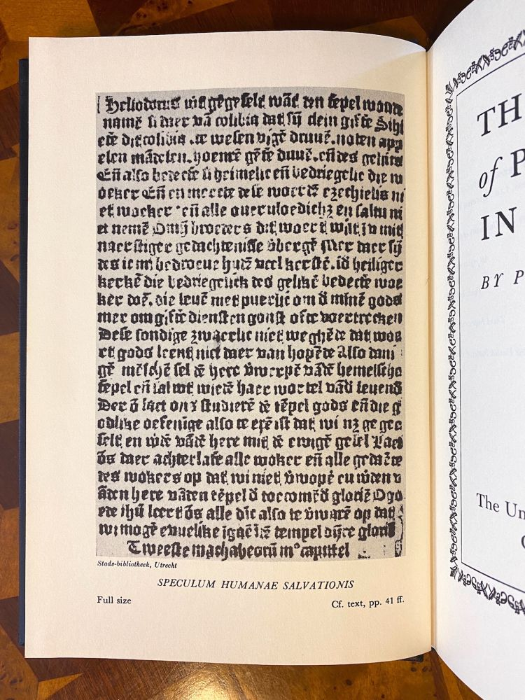 [INCUNABULA REFERENCE]. The Origin of Printing in Europe. Pierce Butler.