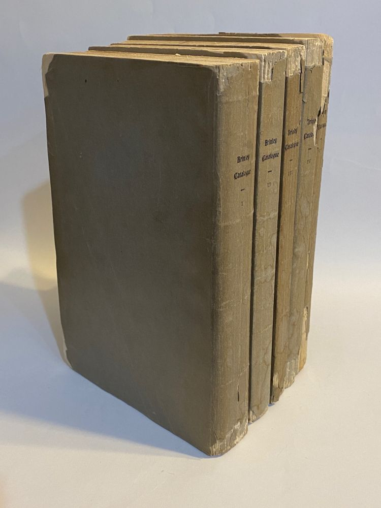 [Americana]. Catalogue of the American Library of the late Mr. George Brinley of Hartford, Conn. George . Fletcher Brinley, William, collector, compiler.