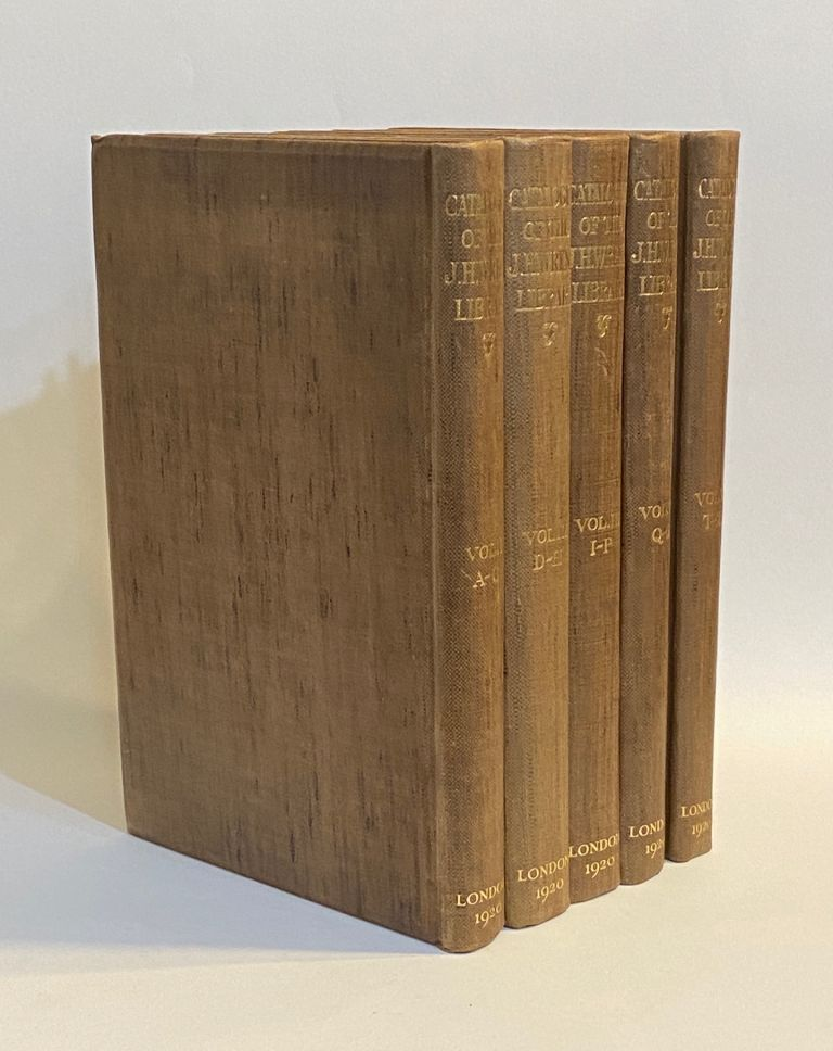 A Catalogue of the Library of the late John Henry Wrenn [...] edited by Thomas J. Wise. John Henry . Wrenn Wrenn, Thomas J., Harold B. . Wise, collector, compiler.