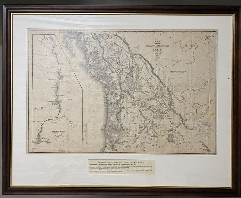 Map of the Oregon Territory by the U.S. Ex. Ex. Charles Wilkes, Esqr. Commander 1841. [Inset map at left]: Columbia River Reduced from Survey Made by the U.S. Ex. Ex. 1841. [Below neat line at right]: J.H. Young & Sherman & Smith, N.Y. Charles Wilkes.