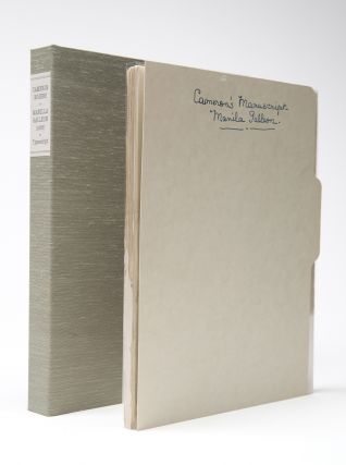 "MANUSCRIPT NOVEL]. Typescript: ""Manila Galleon"" / ""That Year's Galleon"" (early title). Cameron..."