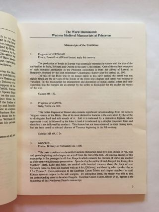 A Summary Guide to Western Medieval Renaissance Manuscripts at Princeton University