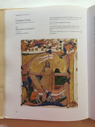 Treasures of a Lost Art: Italian Manuscript Painting of the Middle Ages and Renaissance