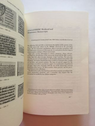 [Medieval and Renaissance Manuscripts]. The Library Chronicle of the University of Texas at Austin (No. 35)