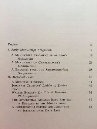 Essays on Manuscripts and Rare Books