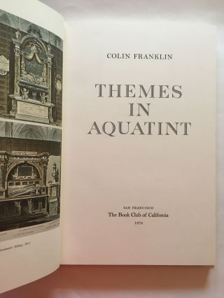 Themes in Aquatint. Colin Franklin