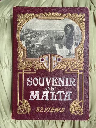 Cover title]: Souvenir of Malta. 32 Views. [Panorama / Souvenir Album]. MALTA