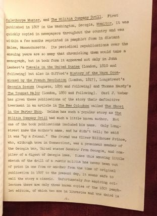 Collecting Southern Amateur Fiction of the Nineteenth Century: An Address before the Bibliographical Society of the University of Virginia, November 7, 1951