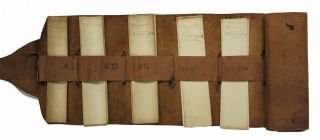 Leather Receipt Portfolio (manuscript on paper)