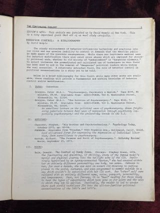 The Continuing Inquiry (newsletter re: JFK assassination) - VOL. 1, NO. 1