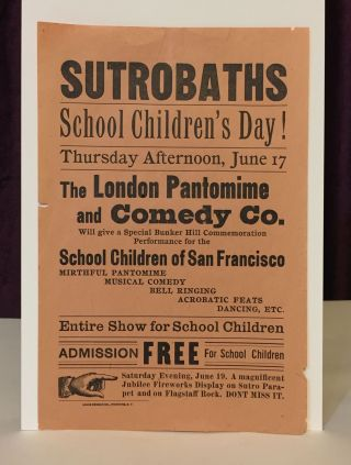 Sutro Baths, School Children's Day! Advertisement, Sutro Baths