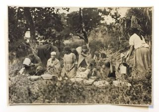 "Original photograph.] ""The Voodoo Belief Among African Natives"" (manuscript title). African..."
