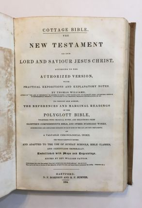 [Provincial American Dust Jacket]. The Cottage Bible and Family Expositor...with practical expositions and explanatory notes by Thomas Williams