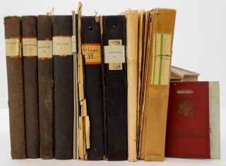 LITERARY ARCHIVE]. [SOCIAL REFORM]. Large archive of more than 1,000 pages of typescripts...