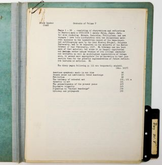 [LITERARY ARCHIVE]. [SOCIAL REFORM]. Large archive of more than 1,000 pages of typescripts manuscripts, mostly unpublished; corrections and notations throughout
