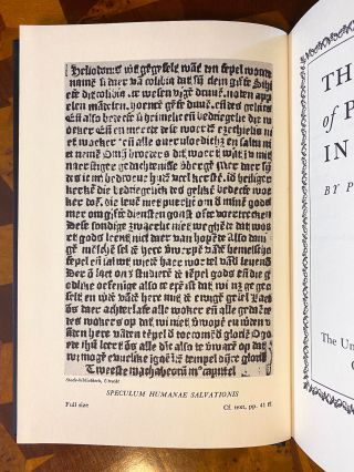 INCUNABULA REFERENCE]. The Origin of Printing in Europe. Pierce Butler