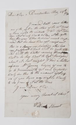 Scotland]. Letter Signed, to John Adam, Esq. concerning repairs to Dumbarton Castle. William...