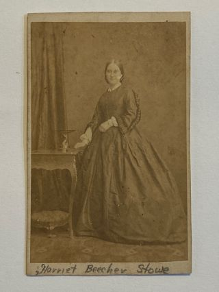 Original Photograph / Albumen print / Carte-de-visite (CDV). Stowe Harriet Beecher, attributed