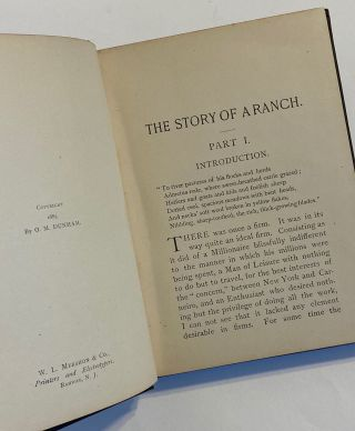 """[WOMAN AUTHOR, """"Pretend"""" Ranching]. The Story of a Ranch"""
