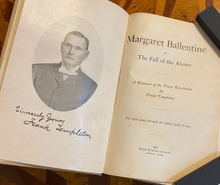 [TEXANA]. [ONLY EXISTING PORTRAIT OF WILLIAM B. TRAVIS]. Margaret Ballentine Fall of the Alamo