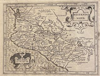 "1625 MAP OF WESTERN MEXICO, extracted from Purchas His Pilgrims]. ""Hispania Nova"" / ""Hondius his..."
