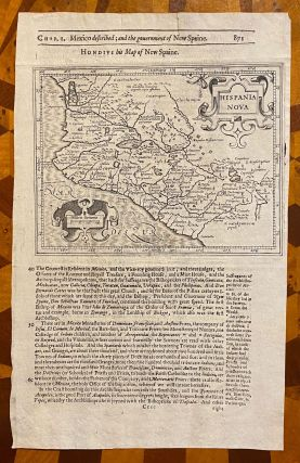 """[1625 MAP OF WESTERN MEXICO, extracted from Purchas His Pilgrims]. """"Hispania Nova"""" / """"Hondius his Map of New Spaine"""" (sic)"""
