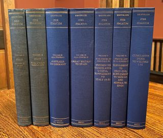 Iter Italicum (COMPLETE SET of 6 vols. + Index volume). A Finding List of uncatalogued or...