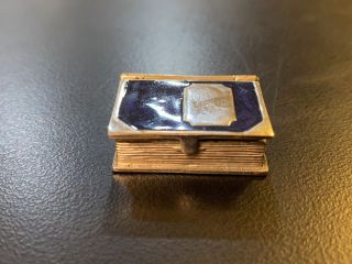 """[MINIATURE """"BLOOK"""" BOX MADE OF SILVER]"""