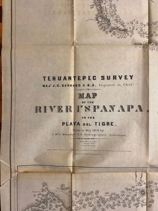 [COMPLETE WITH THE ATLAS]. The Isthmus of Tehuantepec: Being the Results of a Survey for a Railroad to Connect the Atlantic and Pacific Oceans, Made by the Scientific Commission under the Direction of Major J. G. Barnard, U.S. Engineers. With a Resume of the Geology, Climate, Local Geography, Productive Industry, Fauna and Flora, of that Region... Arranged and Prepared for the Tehuantepec Railroad Company of New Orleans. [ATLAS VOLUME]: Maps Illustrating the Isthmus of Tehuantepec