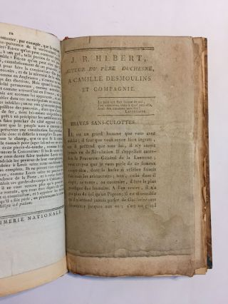 [Sammelband of four rare documents concerning the Judgments of Camille Desmoulins]