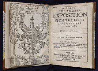 A short and sweete exposition upon the first nine chapters of Zachary. William Pemble, 1592?-1623