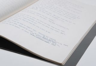 The Coat and the Cup [unpublished play]. Typescript (mimeograph) with additions and corrections in manuscript (ink)